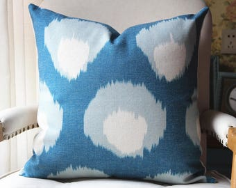 3 colors Peter Dunham Bukhara Pillow Cover in Blue, Decorative Throw Pillow, Accent Cushion Cover, Home Decor, Pillow Covers, 447