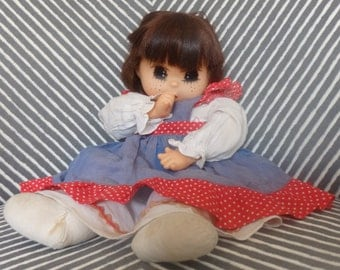 Vintage 1976 Eugene Doll made in Hong Kong Sucks Thumb Freckle face Baby Doll