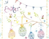 Handmade Easter Card Eggs