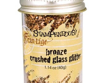 BRONZE Crushed Glass Glitter, Stampendous Frantage, 1.4 oz. jar, for ICE Resin, Scrapbook Embellishment, Mixed Media, cft0050