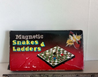 Vintage travel Magnetic Snakes and Ladders
