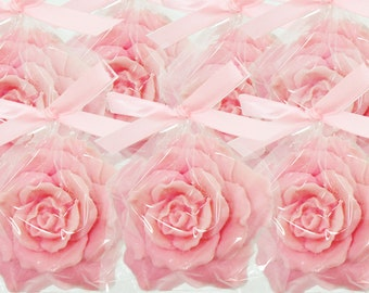 Rose Soap Favors - Choose Color - Rose Soaps for Weddings and Showers