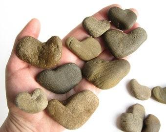 20 Heart Shaped Stones - Valentines Day Decor