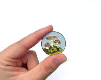 Toadstool Enamel Pin - Good Natured Art
