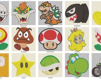Super Mario Brothers Machine Embroidery Package