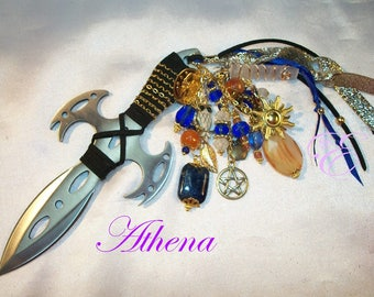 Athena Embellished Athame -  Several Sizes/Styles  Lapis Lazuli, Selenite, Carnelian