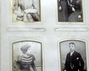 Victorian Photo Album Family Approx 20 Photos 1489996696CEH