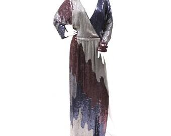 70s Sequin Evening Dress