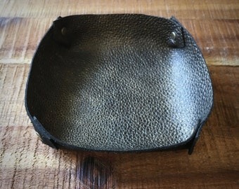 Ring Holder Dish - Soft Leather - Jewelry Storage - Leather Catchall Tray