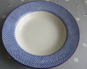SALE Spode Copeland soup plate blue cream early 1900s