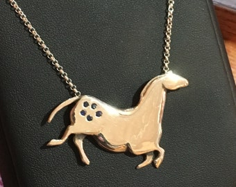 Horse Jewelry Appaloosa Cave Drawing