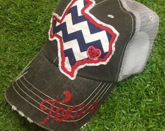 Houston Texas Football Texans Baseball Bling Ladies Womens HAt