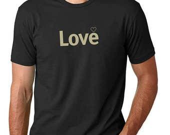 Love t shirt /Men's t-shirt/Boyfriend Gift/Love t-shirt/ Heart T-Shirt /  Inspiring word shirt / t shirts with sayings /Life is Balance