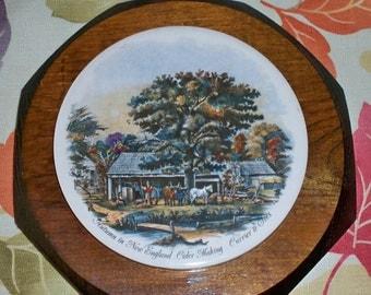 Vintage Currier & Ives Plaque