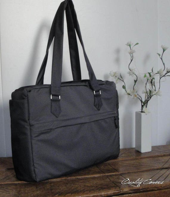 Customizable Laptop bag for Color Fabric and Size- Fully Padded -WATERPROOF Fabric-Tote bag with 2 POCKETS for the water bottle and umbrella