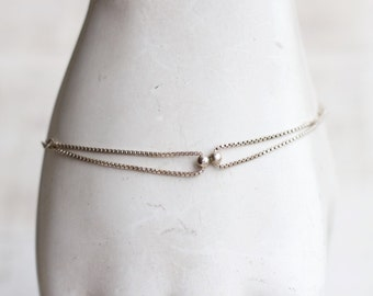 Sterling Silver Thin Bracelet - Elegant Vintage Jewelry