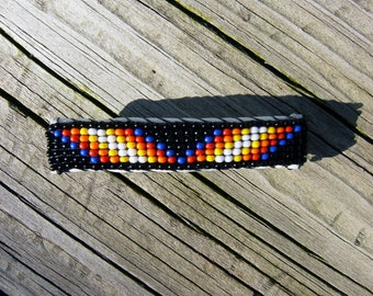 Native American style handmade beaded barrette