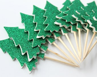 Sparkling Evergreen Tree, Christmas Party, Woodland Decor, Christmas Wedding