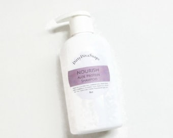 Nourish, Hydrating Argan and Aloe Protein Shampoo, Choose Your Scent, Sulfate and Paraben  Free Shampoo