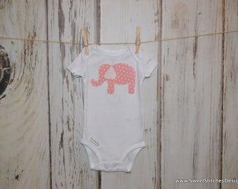 Baby Elephant Onesie Pink Elephant Onesie Pink Elephant Baby Item Elephant Outfit for Baby Baby Shower Gift Baby Elephant Gift