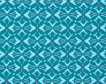 11307 Amy Butler PWAB156 Dream Weaver Cross Print in Teal color - 1 yard