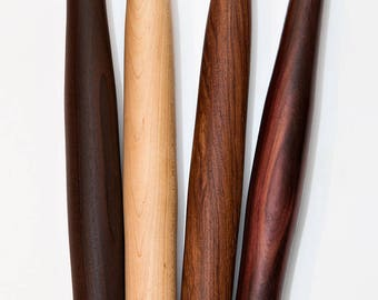 Domestic & Exotic Single-Wood Tapered Rolling Pins French Rolling Pins Exotic Wood Rolling Pin Birthday Gift Christmas Gift Mother's Day