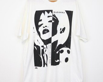 Madonna Shirt Vintage tshirt 1991 What A Body Of Work tee The Immaculate Collection 1990s Original