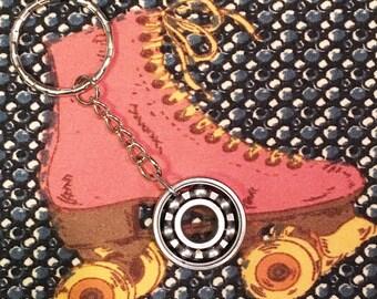 Roller Derby Skate Bearing Keychain - Plain