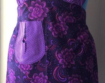 Ladies purple passion full apron