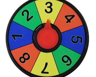 Prize Wheel Refrigerator Magnet 4 inch Spinner Decision Maker