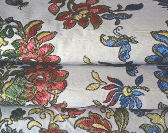 Embroidered Gypsy Bedspread, Cotton and Silk Blend, Iridescent, Reversible