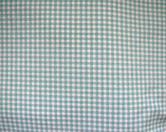 Laura Ashley Double Full Fitted Sheet, Green White Gingham Checks, Shabby Chic Country Cottage Rustic Bedding Linens, Crafts Fabric