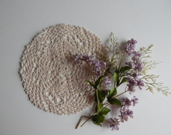 Crochet Doily - Natural Ecru - Small Round - 9""