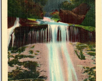 Dome Falls, Tennessee, Smoky Mountains - Vintage Postcard - Postcard - Unused (VV)