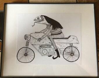 Reptile Rider (original drawing)