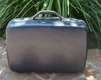 Samsonite Navy Blue Suitcase Carry On Luggage