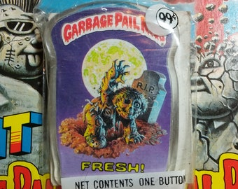 Unopened 1986 Garbage Pail Kids FRESH button