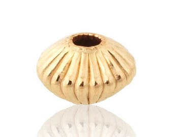 GoldFilled Corrugated Rondell Bead 6 mm Sold by 5 units