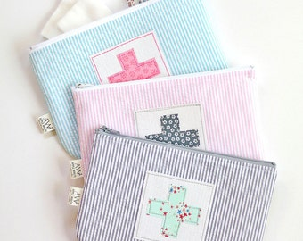 First Aid Zipper Pouch, Boo Boo Bag, Women's Accessories, Bandage Bag, Kids, Glamping, Camping, Back To School, Women's Accessories