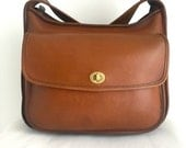 ON HOLD for CHARLENE***Vintage Coach Taft Bag in Beautiful British Tan Leather 9980