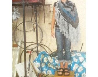 Oversized Crocheted Shawl