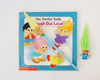 Troll Dolls, Trolls Pencil Topper, Mini Troll, Norfin Trolls Book Lot, 80's Collectibles