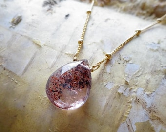 Moss Amethyst Necklace, February Birthstone, Super seven, Gemstone, healing stone, spiritual, meditative, energy, Otis B, melody stone