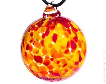 Hand Blown Glass Ornament - Hot Color Mix