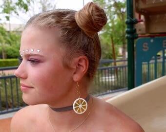 Vintage Lucite, Vintage Jewelry, Vintage Earrings, Vintage Jewellery, Vintage Style Earrings, Lemon Earrings, Lucite Earring