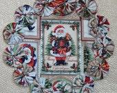 Merry Christmas to You and Yours Santa Yo Yo Doily