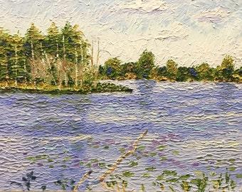 "Original Impressionist style Impasto oil painting 11x14 ""Deadwood"""