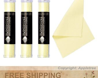 3 Tubes Sunshine Polishing Cloths for Sterling Silver, Gold, Brass and Copper Jewelry