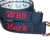 Kids Golf Belt Navy Monogram Belt Personalized Reversible Belt Kids Golf Belt Boys MOnogram Belt Boys Golf Belt Boys Reversible D ring Belt