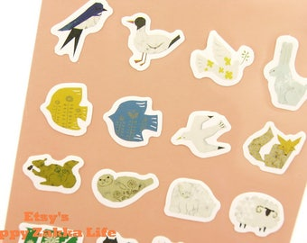 Animal - Die-Cut Paper Deco Sticker - 1 Sheet